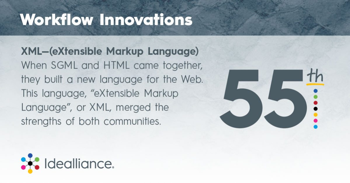 Workflow Innovations from Idealliance: XML (eXtensible Markup Language)
