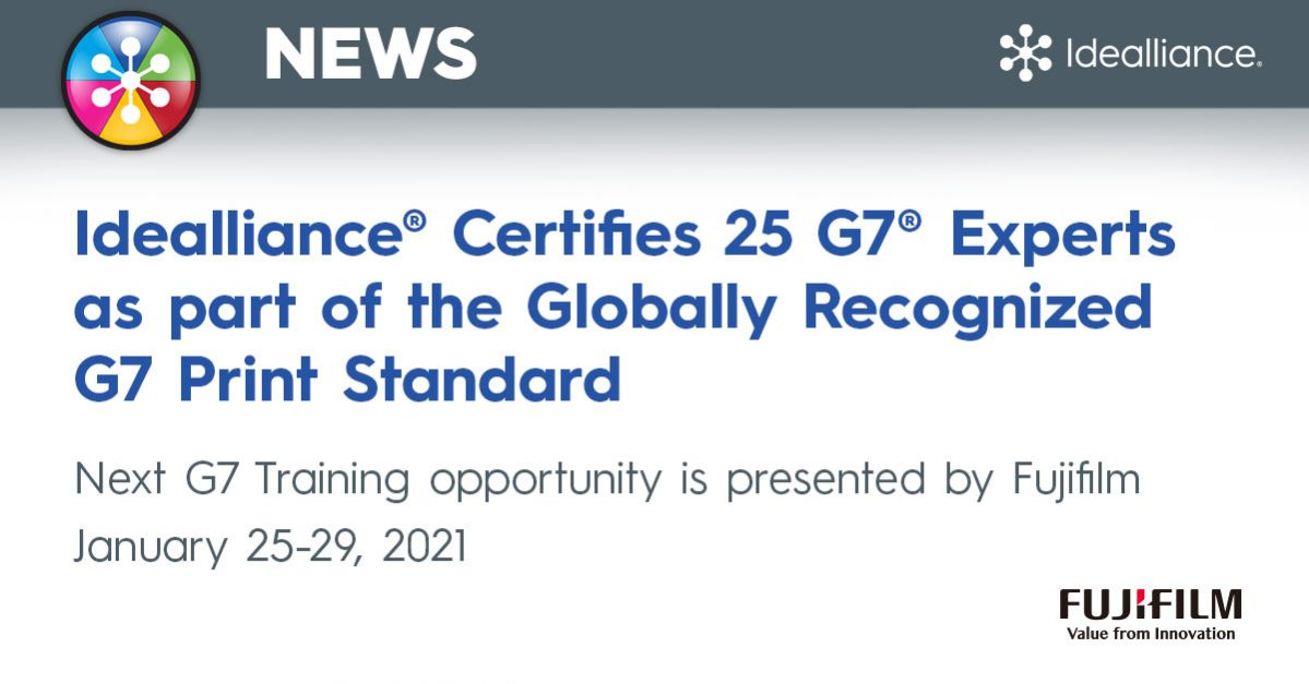 Idealliance Certifies G7 Color Management Experts