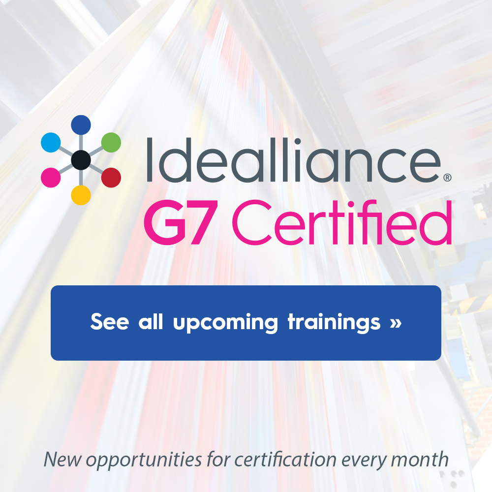 Upcoming G7 Color Management Trainings from Idealliance