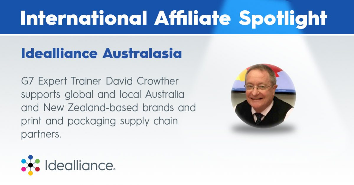 Idealliance Australasia   G7 Expert Trainer David Crowther supports global and local Australia and New Zealand-based brands and print and packaging supply chain partners.