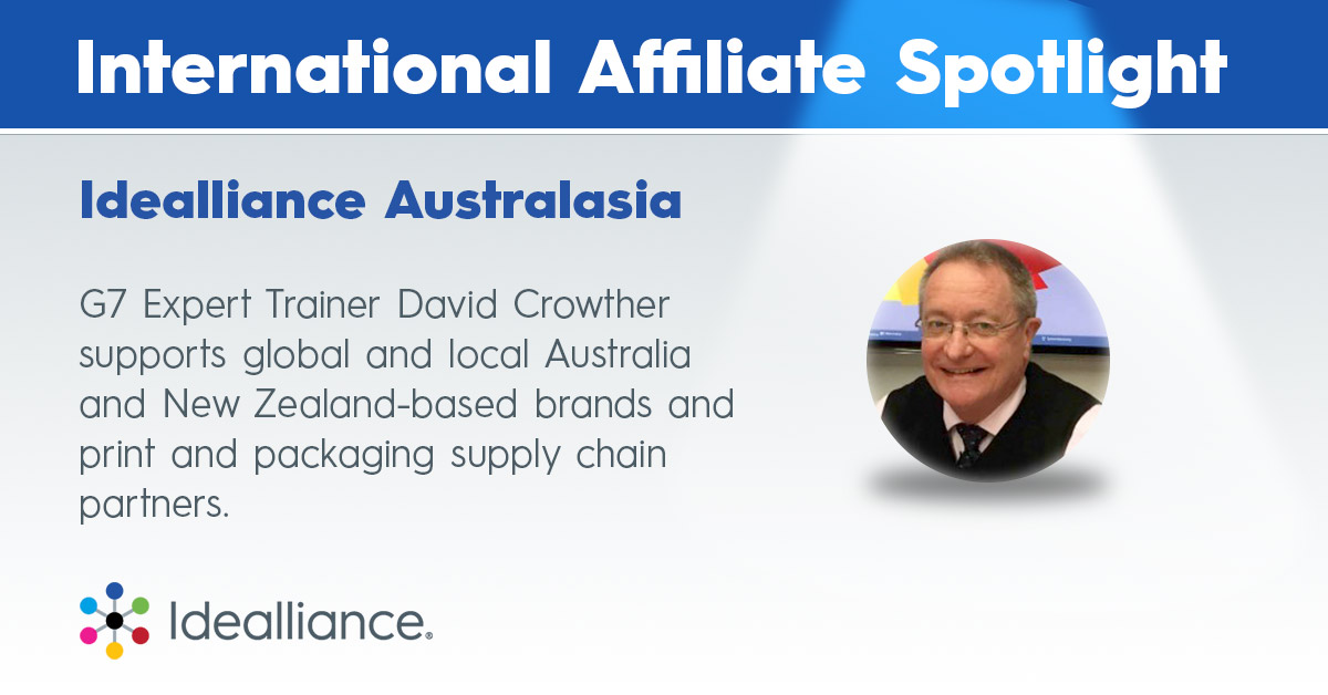 Idealliance Australasia | G7 Expert Trainer David Crowther supports global and local Australia and New Zealand-based brands and print and packaging supply chain partners.