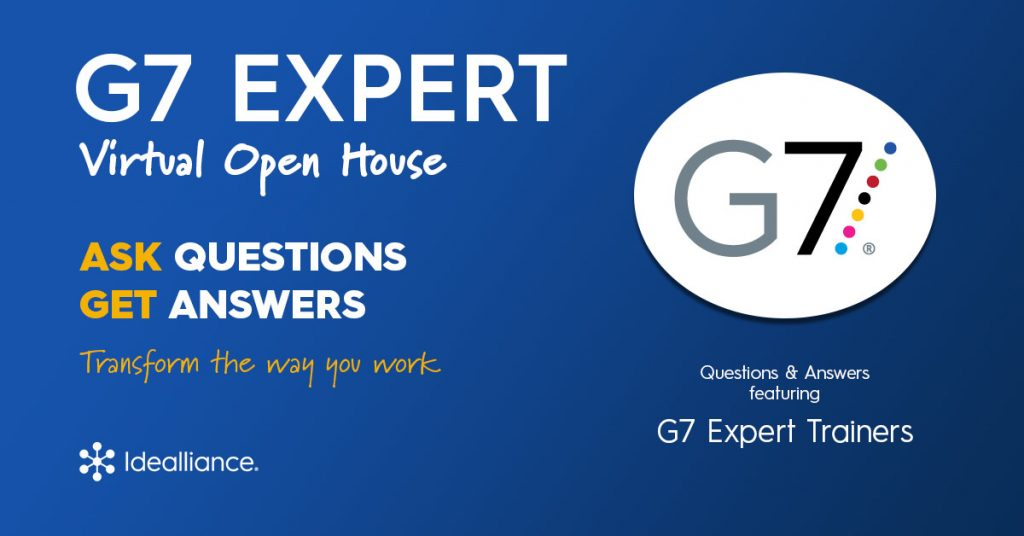 G7 Expert Color Management Training from Idealliance Virtual Open House