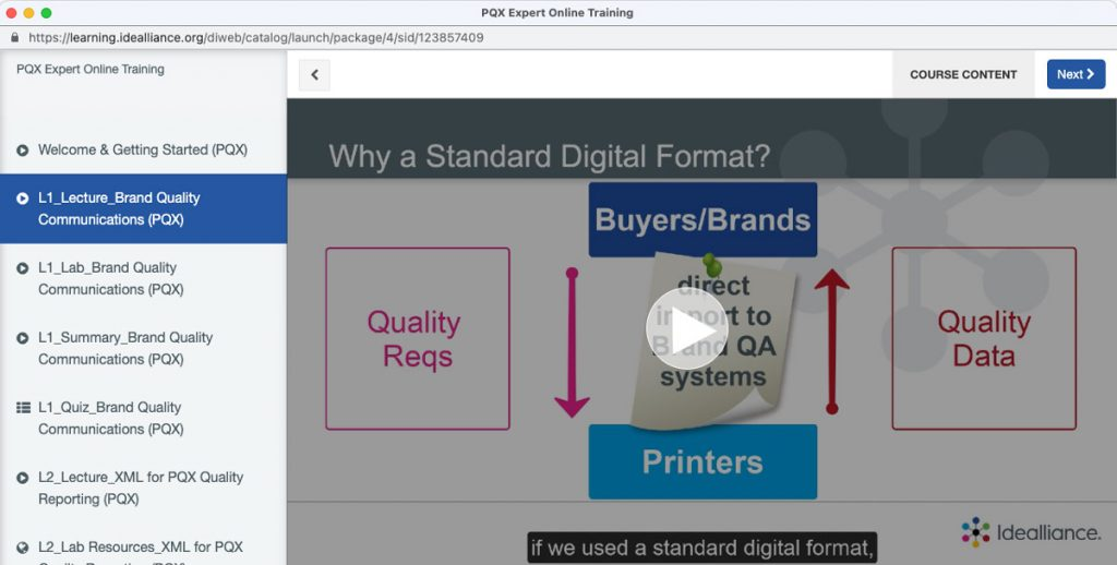 Print Quality eXchange (PQX®) Expert Course from Idealliance